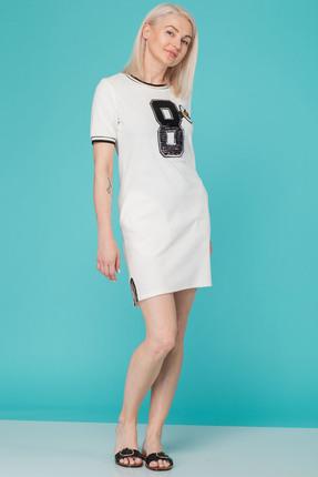 Спортивное платье HIT 4010 бежевые тона