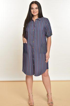 Купить Платье Lady Style Classic 1559 синий, Платья, 1559, синий, Вискоза 72%+ПЭ 25%+ПУ 3%, Лето
