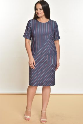 Купить Платье Lady Style Classic 1627 синий, Платья, 1627, синий, Вискоза 72%+ПЭ 25%+ПУ 3%, Лето