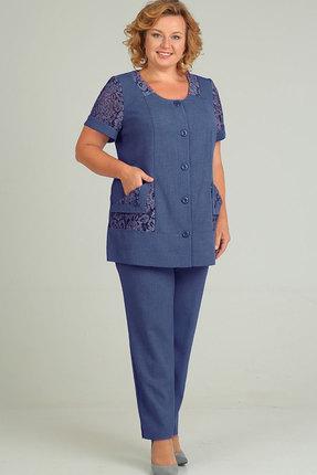 Комплект брючный Elga 12-550 синий