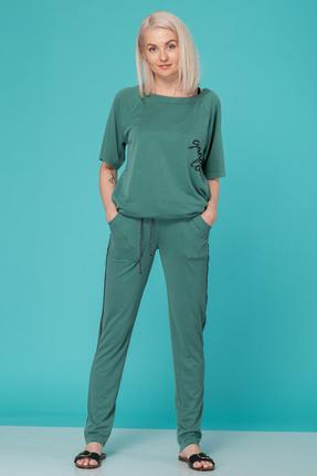 Купить Спортивный костюм HIT 3010 зеленый, Спортивные костюмы, 3010, зеленый, 72% вискоза модал, 28% искусственный шелк, Мультисезон