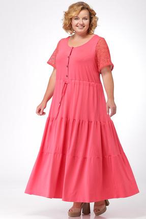 Купить Платье Michel Chic 906 коралл, Платья, 906, коралл, 95% вискоза, 5% лайкра, Мультисезон