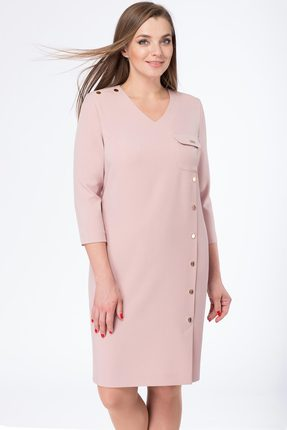 Купить Платье Линия-Л Б-1671 розовый, Платья, Б-1671, розовый, Ткань текстильная Зара - ПЭ 97%+Спандекс 3%, Мультисезон