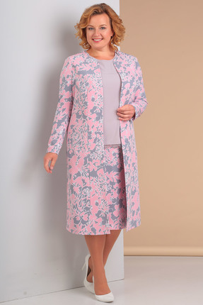 Купить со скидкой Комплект юбочный Новелла Шарм 2998 серо-розовые тона