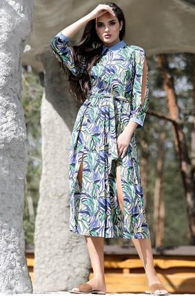 Купить Платье PIRS 435 синие тона, Платья, 435, синие тона, 100% вискоза, Лето