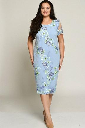 Купить Платье Elga 01-558 голубой, Платья, 01-558, голубой, 68% Вискоза, 30% ПЭ, 2% Спандекс, Лето