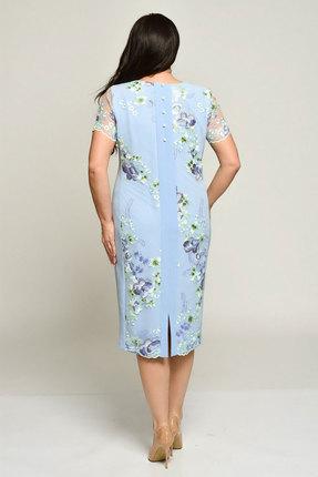 Фото 2 - Платье Elga 01-558 голубой голубого цвета