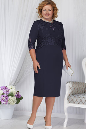 Купить Платье Ninele 2168 синий, Вечерние платья, 2168, синий, Полиэстер-95%, Спандекс-5%, кружево - ПЭ-100%, подкладка – полиэфир 95%, спандекс 5%, Мультисезон