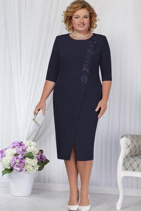 Купить Платье Ninele 5652 тёмно-синий, Вечерние платья, 5652, тёмно-синий, Полиэстер-95%, Спандекс-5%, кружево - ПЭ-100%, подкладка – полиэфир 95%, спандекс 5%, Мультисезон