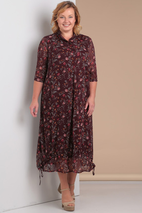 Купить Платье Новелла Шарм 3046 бордовые тона, Платья, 3046, бордовые тона, шифон (пэ 100%%), трикотажная подкладка, Лето