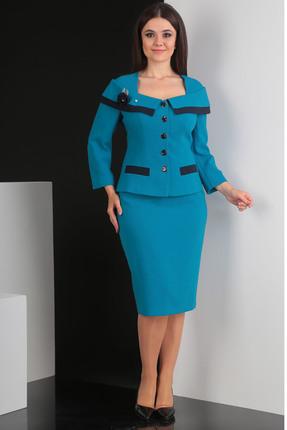 Комплект юбочный Мода-Юрс 2396 бирюзовый