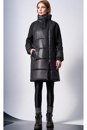 Купить Пальто DiLiaFashion 0124-1 черный, Пальто, 0124-1, черный, 100% полиэстер (утеплитель - 100% isosoft), Мультисезон
