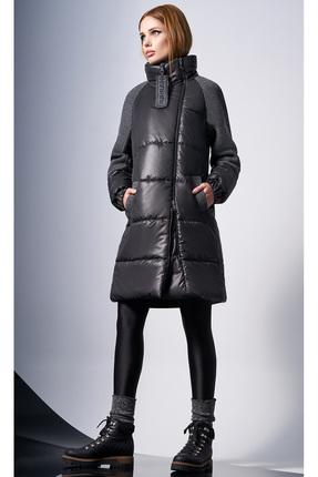 Купить Пальто DiLiaFashion 0124-1 серый, Пальто, 0124-1, серый, 100% полиэстер (утеплитель - 100% isosoft), Мультисезон