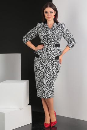 Комплект юбочный Мода-Юрс 2349 черно белый