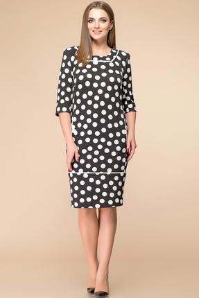 Купить Платье Romanovich style 1-1233 черный горох , Платья, 1-1233, черный горох , Трикотаж (95% ПЭ, 5% спандекс), Мультисезон