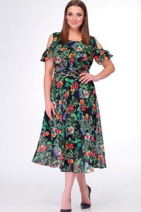 Купить Платье ТАиЕР 704 мультиколор, Платья, 704, мультиколор, Вискоза 45%, ПЭ 55%, Лето