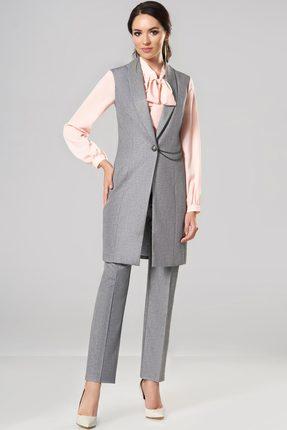 Купить Комплект брючный Lady Secret 2551 серый, Брючные, 2551, серый, Жилет и брюки: Вискоза 48%+ПЭ 49%+Cпандекс 3% Блузка: Вискоза 49%+Нейлон 48%+Спандекс 3%, Мультисезон