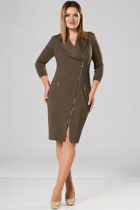 Купить Платье Lady Secret 3540 хаки, Платья, 3540, хаки, Вискоза 64%+Нейлон 32%+Cпандекс 4%, Мультисезон