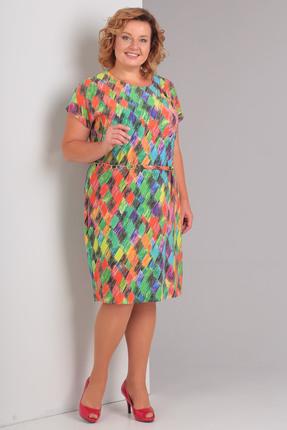 Купить Платье Диамант 894 зеленые тона, Платья, 894, зеленые тона, 95 % вискоза, 5% пэ, Мультисезон