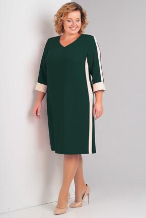Купить Платье Диамант 1331 зеленый, Повседневные платья, 1331, зеленый, 59% вискоза, 38% ПЭ, 3% эластан, Мультисезон