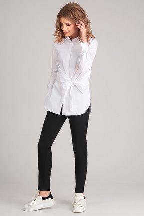 Купить Рубашка Denissa Fashion 1159 белый, Рубашки, 1159, белый, хлопок 76%, ПЭ 22%, эластан 2%, Мультисезон