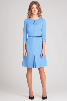 Купить Платье Denissa Fashion 1168 голубой, Платья, 1168, голубой, 96% ПЭ, 4% спандекс, Мультисезон
