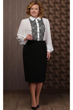 Комплект юбочный Aira Style 634 молочно-черные тона