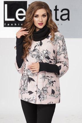 Купить Куртка LeNata 11802 цветы на розовом фоне, Куртки, 11802, цветы на розовом фоне, 100% ПЭ, Мультисезон