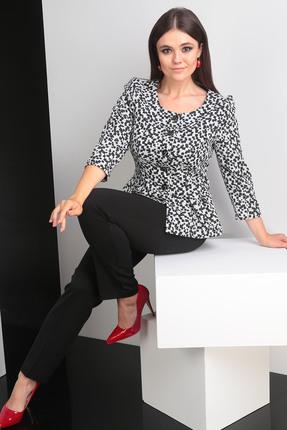 Купить со скидкой Комплект брючный Мода-Юрс 2329-1 черно-белый