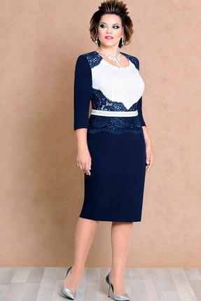 Платье Mira Fashion 4355 тёмно-синий