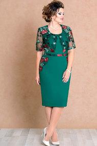 Платье Mira Fashion 4474 зелёный