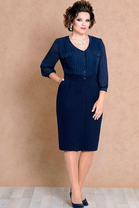 Платье Mira Fashion 4479 тёмно-синий