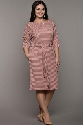 Купить Платье Lady Style Classic 1525 розовые тона, Платья, 1525, розовые тона, Вискоза 48%+ПА 46%+ПУ 6%, Мультисезон