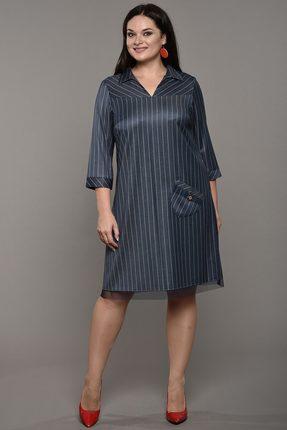 Купить Платье Lady Style Classic 1564 синий, Платья, 1564, синий, Вискоза 72%+ПЭ 25%+ПУ 3%, Мультисезон
