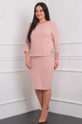 Купить Комплект юбочный Milana 939 розовый, Юбочные, 939, розовый, Костюмно-плательная со стрейчем. Состав: ПЭ-34%, вискоза-60%, спандекс-6%, Мультисезон
