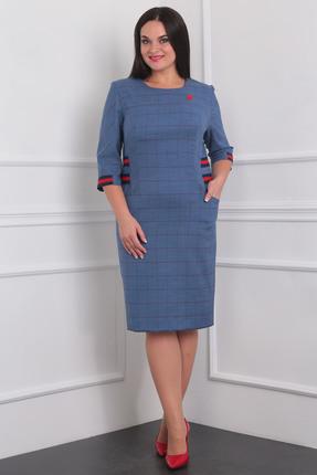 Купить Платье Milana 942 синий, Платья, 942, синий, Костюмно-плательная со стрейчем Состав: ПЭ-68%, вискоза-30%, спандекс-2%, Мультисезон
