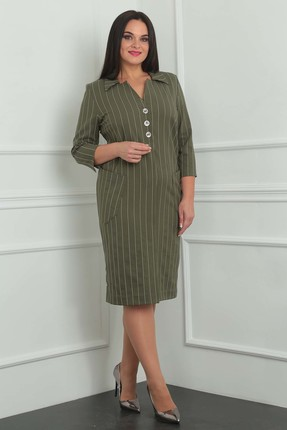 Купить Платье Milana 951 зеленые тона, Платья, 951, зеленые тона, Материал платья: костюмно-плательная со стрейчем. Состав: ПЭ-68%, вискоза-30%, спандекс-2%, Мультисезон