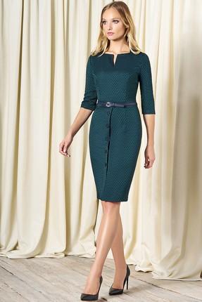 Купить Платье Bazalini 3250 зеленый, Повседневные платья, 3250, зеленый, Костюмно-платьевая, Жакард - ПЭ65% Вискоза32% Спандекс2%, Мультисезон