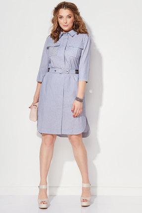 Купить Платье Anna Majewska 1115 голубые тона, Платья, 1115, голубые тона, Хлопок-75%, ПЭ-25%, Лето