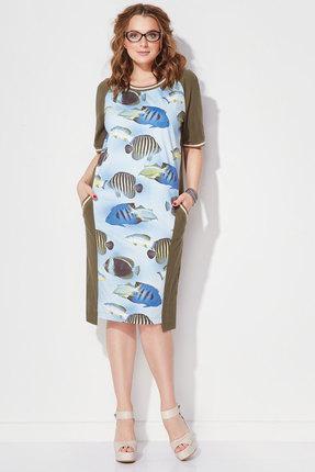 Купить Платье Anna Majewska 1126 рыбки , Платья, 1126, рыбки , Хлопок-95%, Спандекс-5%, Лето