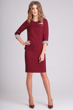 Комплект юбочный Denissa Fashion 1172 бордо