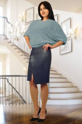 Купить со скидкой Комплект юбочный Миа Мода 835-4 синие тона