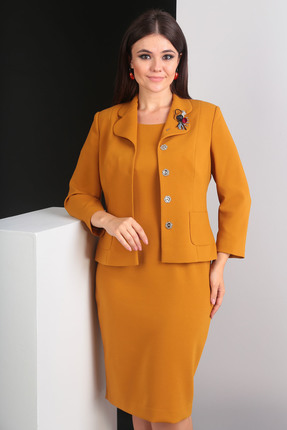Комплект юбочный Мода-Юрс 2370 темная горчица