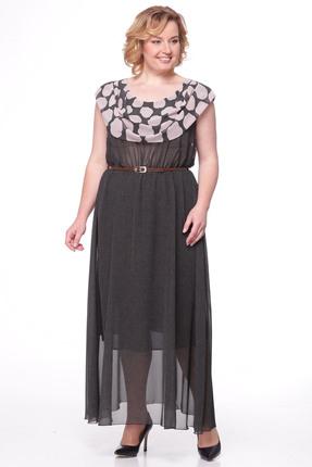 Купить Платье Michel Chic 668 черный с бежевым, Платья, 668, черный с бежевым, Шифон 100% полиэстер, Мультисезон