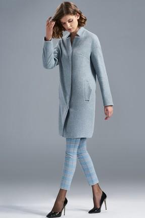 Пальто SoLei 3230 голубые тона SoLei
