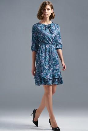 Купить Платье SoLei 3298 голубые тона, Платья, 3298, голубые тона, Сатин: 100%ПЭ, Мультисезон