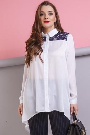 Купить Блузка Anastasia 174Б белый, Блузки, 174Б, белый, ПЭ-95%; ПУ-5%, Мультисезон