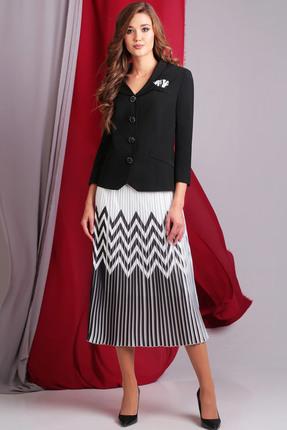 Фото #1: Комплект юбочный Axxa 26081 черный с белым