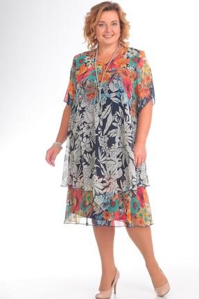 Купить Платье Pretty 242 мультиколор, Платья, 242, мультиколор, 95% полиэстр 5% спандекс, 100% полиэстр, Мультисезон