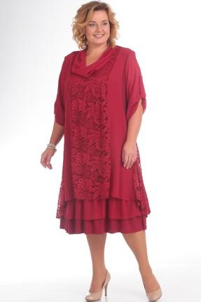 Купить Платье Pretty 417 малиновый, Платья, 417, малиновый, 96% полиэстр, 4% спандекс; 100% полиэстр, Мультисезон